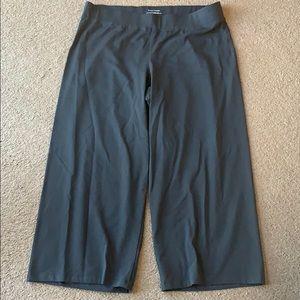 NWOT Eileen Fisher sz L Pants  gray knit cotton